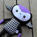 Purple Geometric Lamb Softie