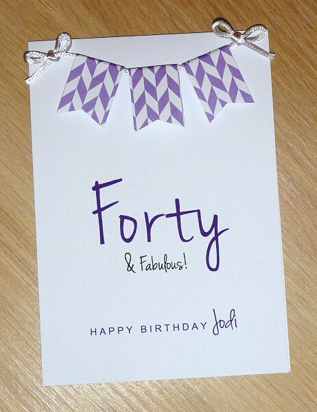 Forty Fabulous 40th Birthday Card