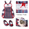 Baby Girl Newborn, size 0000, Tartan Romper set, handmade shoes, Tartan cotton