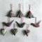 9 Felted Christmas Decorations 3 Trees 3 Hearts 3 Birds
