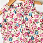 Girls pleated floral blouse size 4