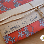 Orange Blossom - Reusable Beeswax Food Wrap 9x9 Inches