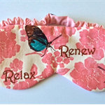 Sleep mask / eye mask.  Butterfly relax, renew travel gift.