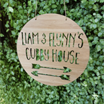 Personalised Wooden Cubby House Sign - Arrow Design