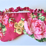 Sleep mask / eye mask.  Pretty in pink floral travel gift.