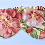 Sleep mask / eye mask.  Vintage floral travel gift.