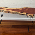 Raw Edge Coffee Table with Hairpin Legs