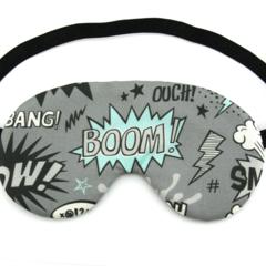 Superhero Comic Words Sleeping Eye Mask / Night Mask