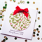 SET OF 5 red green holly Merry Christmas 2016 him her satin ribbon bow card