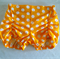 Ruched Bloomers, Shorties, nappy cover, size 2. Yellow Polka Dot.