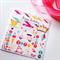 Happy Birthday ice-cream bike vespa kite princess crown pink red aqua card
