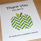 Personalised Thank you Teacher card - Origami Apple  - different designs