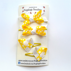 Set of sunshine yellow hair accessories