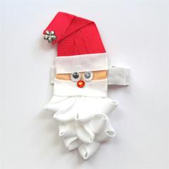 """""""Ho ho ho"""" Santa Clause ribbon hair clip"""