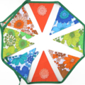 RETRO Vintage Floral Doily Flower Power Flag Bunting. Party, Decoration
