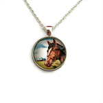 """""""Horses 001""""   Choose silver or bronze   The $10 Pendant"""