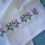 Hand Towel with Cross Stitch