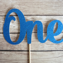 ONE Cake Topper - Royal Blue   1st Birthday Cake Decor, First Birthday Party