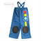 Grandpa Pants, 2yo Boy Traffic Light Applique, green yellow red, blue fleece