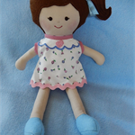 Handmade doll 2 dresses