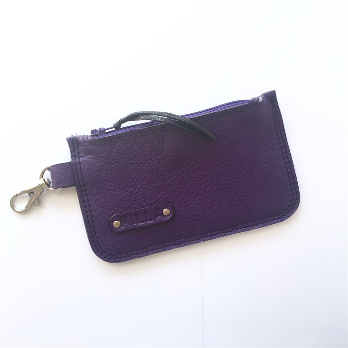Personalised Elliot Leather Bus Pass/Coin Wallet: Made to Order