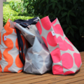 Orange Spot Canvas Tote Bag