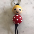 Hand Painted Wooden Beaded Keychain