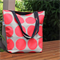 Large Hot Pink Spot Canvas Tote Bag