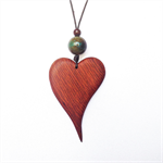 Solid Heart Pendant handcrafted from Sheoak #H28