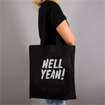 Hell Yeah Quote Tote Bag Black