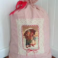 Vintage Style Santa Sack- Christmas