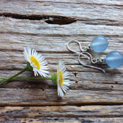 Brazilian Aquamarine & Sterling Silver Earrings