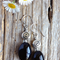 Black Onyx Gemstone & Sterling Silver Earrings