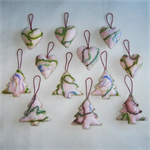 12 Felted Christmas Decorations 6 Trees 6 Hearts
