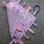 Baby Taggie - Pink and Purple Leaves - Purple Minkee