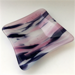 Pretty in Pinks ~ Fused Glass Trinket Bowl, Dish, Ring Bowl