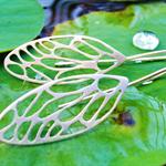 Cicada Wing Earrings in Sterling Silver