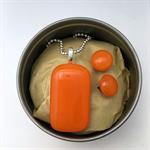 Orange Fused Glass Pendant and Earrings Set