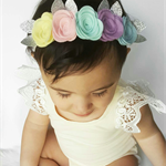 """Gelati Princess"" headband in lemon, pale pink, mint, lilac and baby blue"