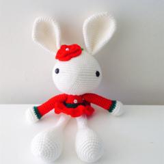 Cute Red Crochet Bunny