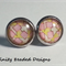 Colourful Square Stud Earrings