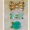 Hairclips - Bows & Rosette - Teal