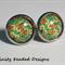 Floral Pattern Stud Earrings