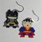Batman Vs Superman Beaded Earrings