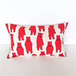 The Red Bear Team Pillow Cover for Boys or Girls. Fun Gift for Kids.