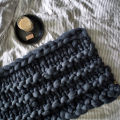 Chunky Merino Wool Bed Runner