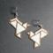 White Dove Beaded Earrings