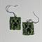 Minecraft Creeper Beaded Earrings