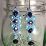 Seablue Beaded Earrings