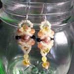 Yellow Hornet Beaded Earrings